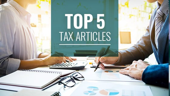 Top 5 Tax Articles