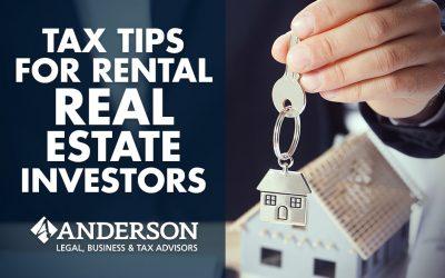 Tax Tips for Rental Real Estate Investors