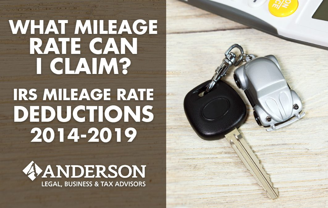 What Mileage Rate Can I Claim? IRS Mileage Rate Deductions 2014-2019