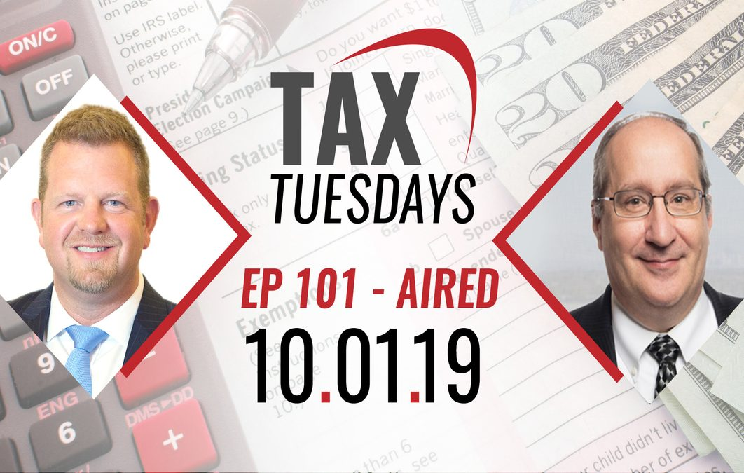 Tax Tuesdays with Toby Mathis 10-01-2019