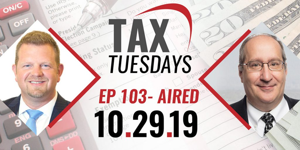Tax Tuesdays with Toby Mathis 10-29-2019