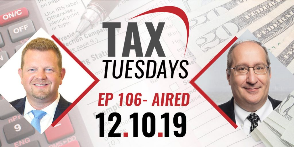 Tax Tuesday Episode 106