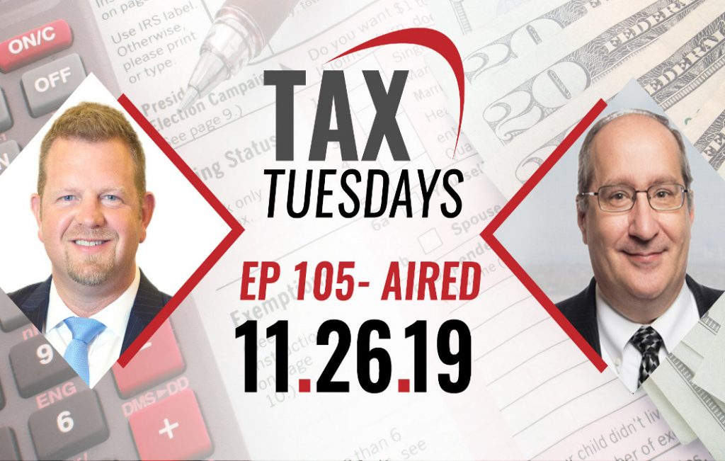 Tax Tuesdays with Toby Mathis 11-26-2019