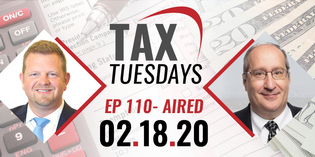 Tax Tuesday Episode 110