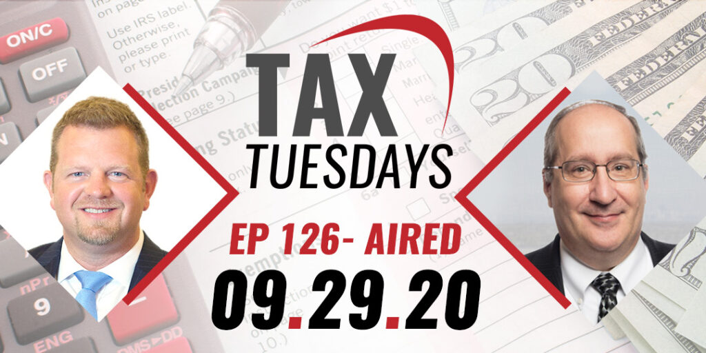 Tax Tuesday with Toby Mathis 09-29-2020